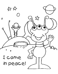 space coloring pages alien come in peace coloringstar