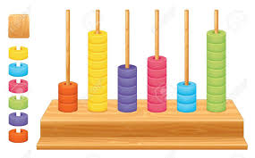 detailed illustration of a mathematical place value abacus royalty
