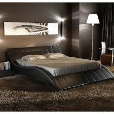 curved bed frame i absolutely love this bed rosetta queen size leather bed black