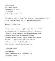 carpenter resume template u2013 9 free samples examples format