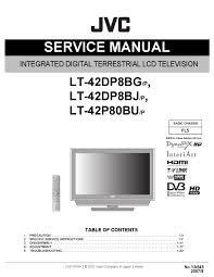 manual de serviço tvs lcd jvc lt 42dp8bg p lt 42dp8bj p e lt