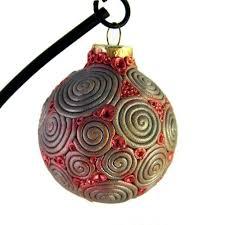 ornament silver polymer clay filigree ooak hd035