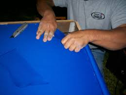 How To Refelt A Pool Table Refelting A Pool Table The Corners
