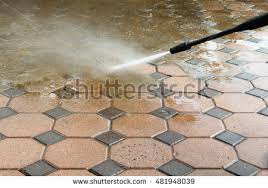 Cleaning Patio With Pressure Washer Patio Cleaning Stock Images Royalty Free Images U0026 Vectors