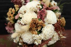 Shabby Chic Wedding Bouquets by Petite Rustic Wedding Flower Bouquet Bridal Shabby Chic