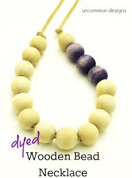 wood beads necklace designs images Dyed wooden bead necklace uncommon designs png