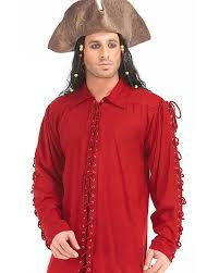 colonial halloween costume bully hayes pirate shirt men