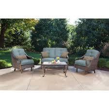 Patio Furniture Seating Sets - ventura 4 piece seating set in ocean blue ventura4pc blu
