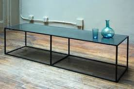 long narrow coffee table long narrow coffee tables frosted glass long table top integrated