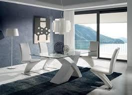 table cuisine verre trempé table de salle à manger design rectangulaire avec plateau en verre