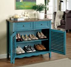 Accent Cabinets Blue Finish Accent Cabinet Caravana Furniture