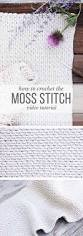 video tutorial how to crochet the moss stitch beautiful moss