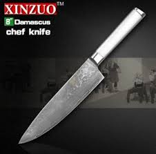 damascus steel kitchen knives xinzuo 8 chef knife vg10 73 layers damascus steel kitchen knife