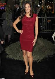 Constance Marie Sexy Pictures - emmy rossum stands above the crowd in sexy black and white gown at