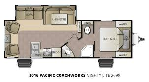 2016 pacific coachworks mighty lite 2690 travel trailer u2013 stock