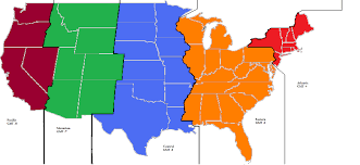 Time Zones Usa Map by Us Highway Map With Time Zones
