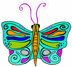 free printable full color butterfly mask