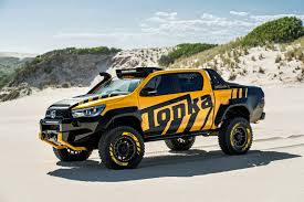 lexus v8 hilux toyota australia and tonka have teamed up to create a hilux based
