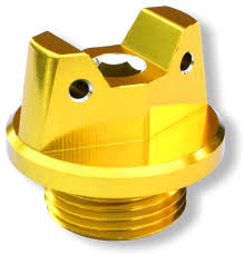 amazon com motosculpt oil fill cap plug gold for suzuki drz125