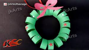 Make Christmas Decorations At Home by How To Make Paper Christmas Wreath Diy Christmas Decorations