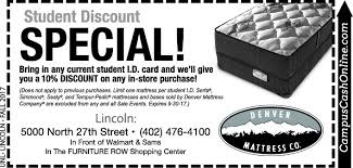 denver mattress black friday university of nebraska lincoln archives campus cash coupons a