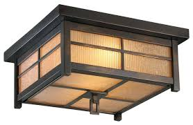 flush mount craftsman lighting craftsman ceiling light classic wooden flush mount outdoor lighting