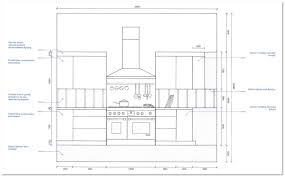 loft apartment kitchen elevations section kitchen elevation a a