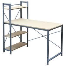 4 tier shelves corner computer desk wooden workstation pc laptop