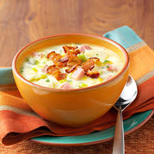 corn recipes for thanksgiving ham and corn chowder recipe taste of home