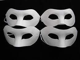 plain mask 4 x half mask paint mask decorate plain masks white mask
