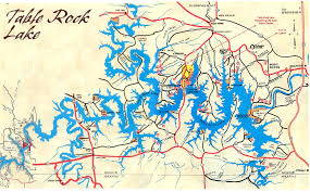 table rock lake map table rock lake area where it is fun to live and play branson