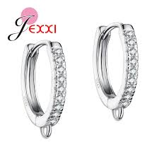 sterling diamond china jexxi new arrival s925 sterling silver earring findings for diy