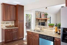 architecture open floor plans for homes with luxury wood kitchen