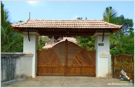 beautiful houses compound wall designs photo kerala house gate