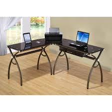 L Shaped Black Glass Desk Beautiful White Glass Office Desk Photos Liltigertoo
