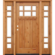 pacific entries 70in x80in craftsman 6 lt stained knotty alder