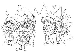 sailor moon coloring pages four sailors coloring pages blinking