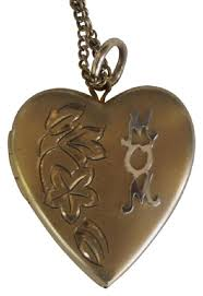 s day locket gold vintage filled engraved heart locket sweetheart s