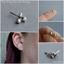 tiny earrings introducing the teeny tiny stud earring range by epheriell or