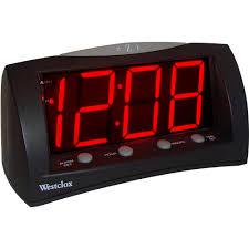 wall mounted digital alarm clock elgin electric alarm clock walmart com