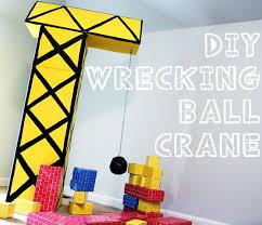 construction birthday party diy wrecking crane for a construction birthday party