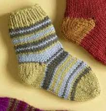 Kids Wool Socks Free Yarn Project Knit Child U0027s Striped Socks Using Lion Brand