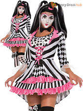 Ladies Clown Halloween Costumes Womens Clown Costume Ebay