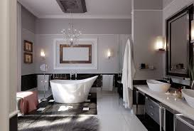 the best of modern black and white master bathroom interior
