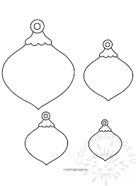 felt ornaments patterns coloring page