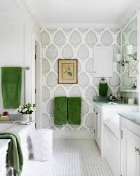 18 gorgeous ways to use wallpaper in your bathroom brit co