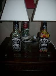 How To Make A Chandelier Out Of Beer Bottles How To Turn Your Old Liquor Bottles Into Desk Lamps 14 Steps