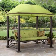 outdoor patio set 3 person swing gazebo bench yard shade garden