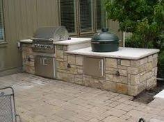 Backyard Kitchen Design Ideas by Big Green Egg Island Outdoor Kitchen And Fire Pit In Hoover Al