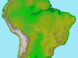 Topographical Map Of United States by Topography Of South America Image Of The Day